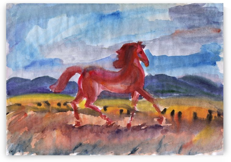Wild Mustang Freedom by Dobrotsvet Art