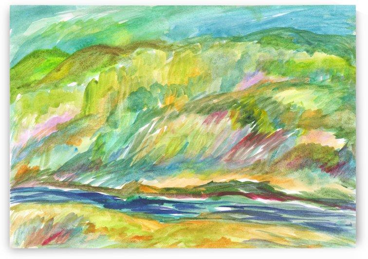 Spring Grove by the River by Dobrotsvet Art
