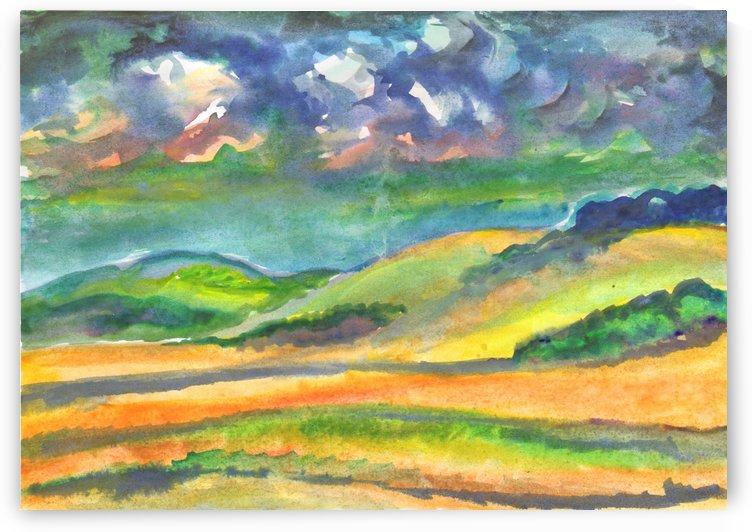 Landscape before a thunderstorm by Dobrotsvet Art