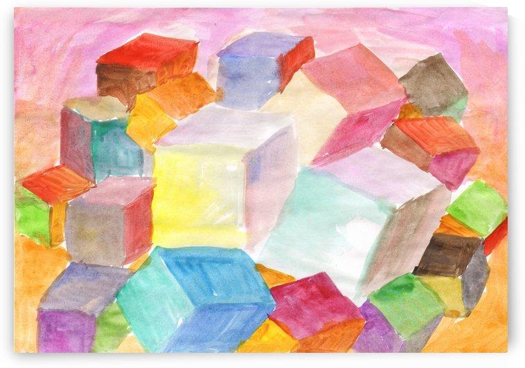 Abstract cubic world by Dobrotsvet Art