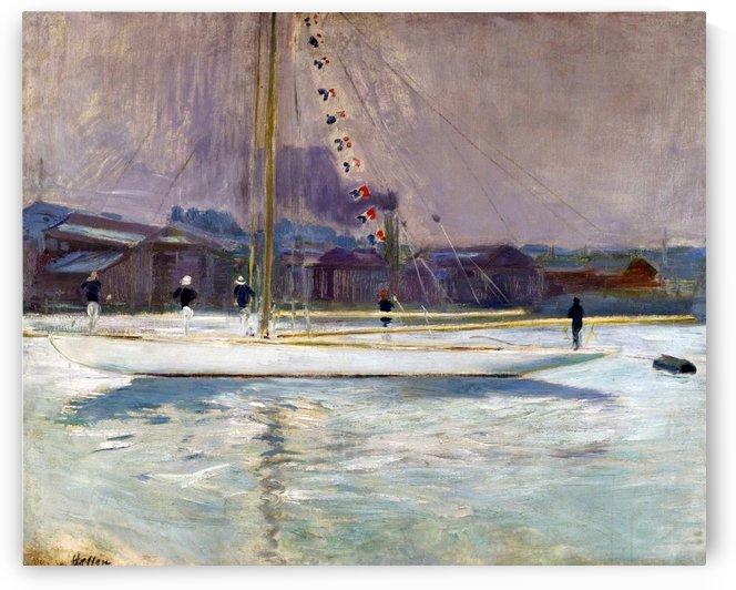Yacht Entering the Port by Paul Cesar Helleu