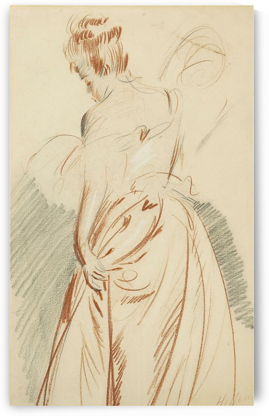 Woman Seen from the Back (study) by Paul Cesar Helleu