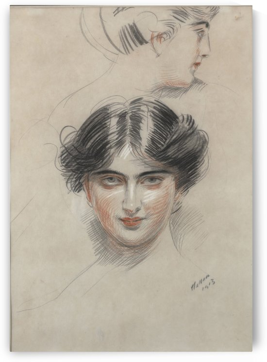 Head of a Woman - Diana Mitford by Paul Cesar Helleu