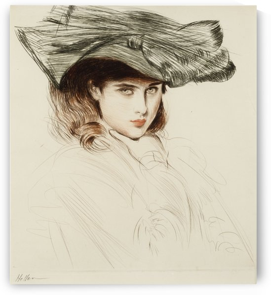 Portrait of a Young Woman (2) by Paul Cesar Helleu