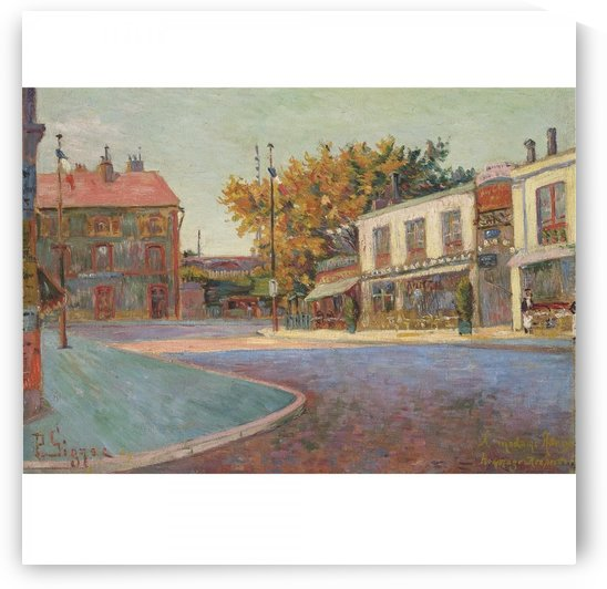 Rue de la Station, Asnieres by Paul Signac