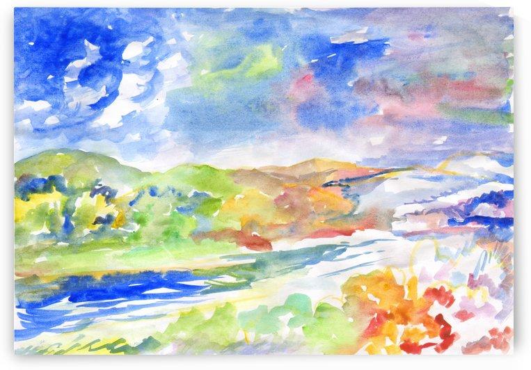 All seasons in the same landscape by Dobrotsvet Art