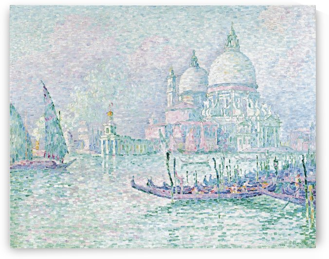 Venice. The Salute. Green by Paul Signac
