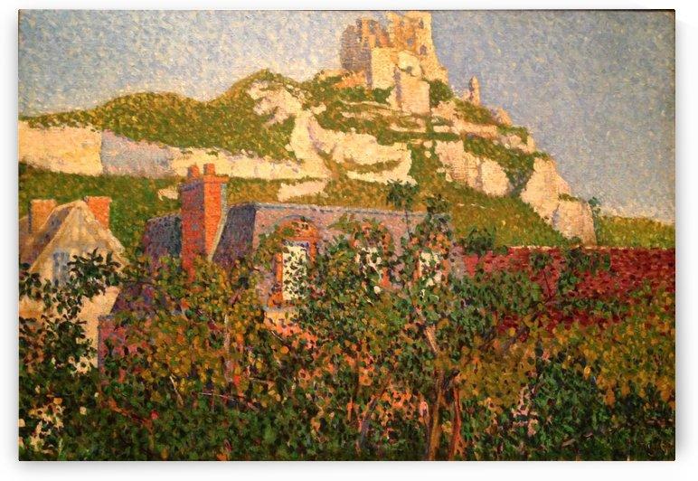 Les Andelys, Chateau Gaillard by Paul Signac
