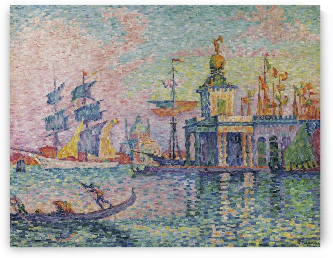 Venice, Custom-House by Paul Signac