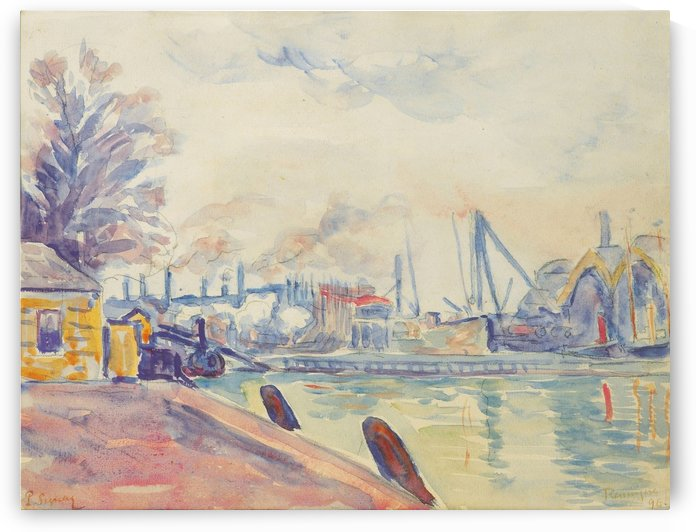 The Port of Flessingue by Paul Signac