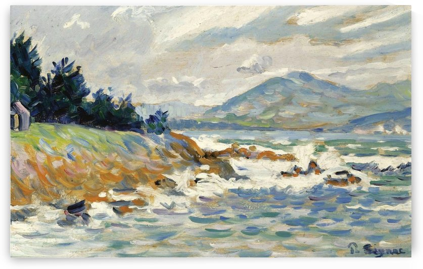 Saint-Tropez, the Gust of Eastern Wind by Paul Signac