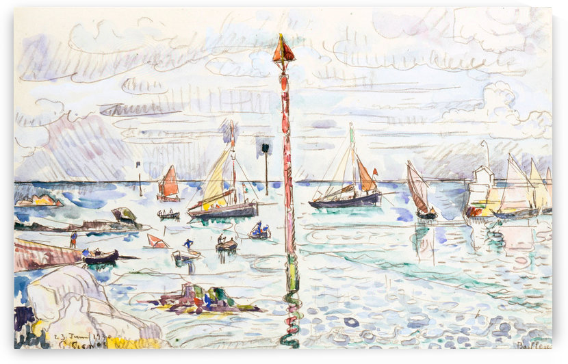 Barfleur by Paul Signac