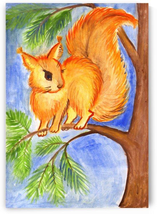 Squirrel by Dobrotsvet Art