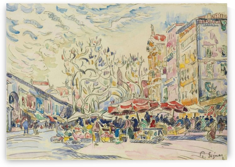 Nice, the Courts of Saleya by Paul Signac