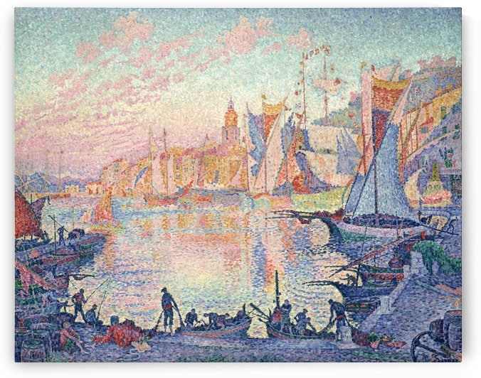 Sailers in the Port by Paul Signac