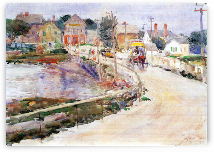 In Gloucester by Hassam by Hassam
