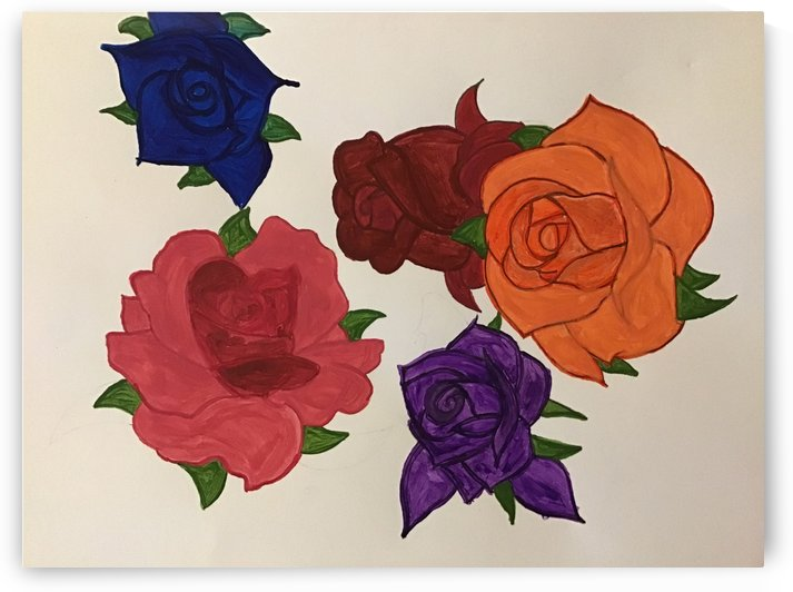 Diversity in Roses by brianna K ginger
