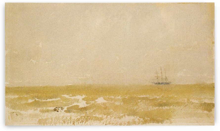 Seascape with Schooner by Whistler by Whistler