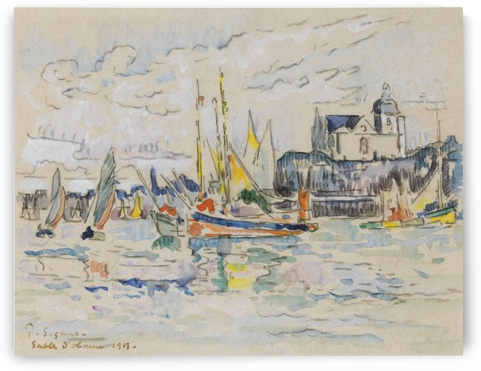 View of the Port of Sables d'Olonne by Paul Signac