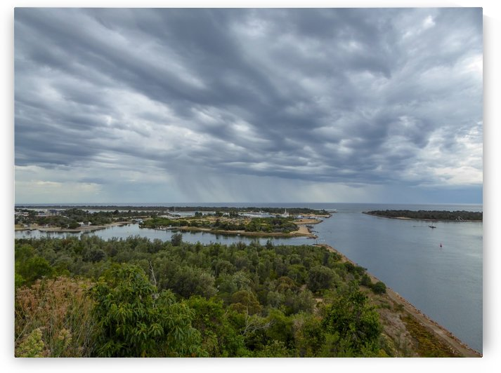 Storm clouds over Lakes Entrance by Fran Woods