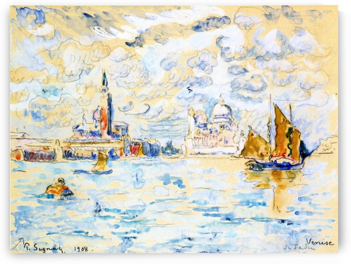 Venice, Saint-Georges, Morning (Study) by Paul Signac