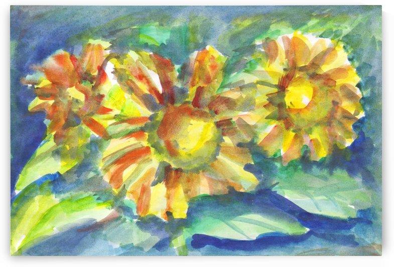 Sunflowers at dusk by Dobrotsvet Art