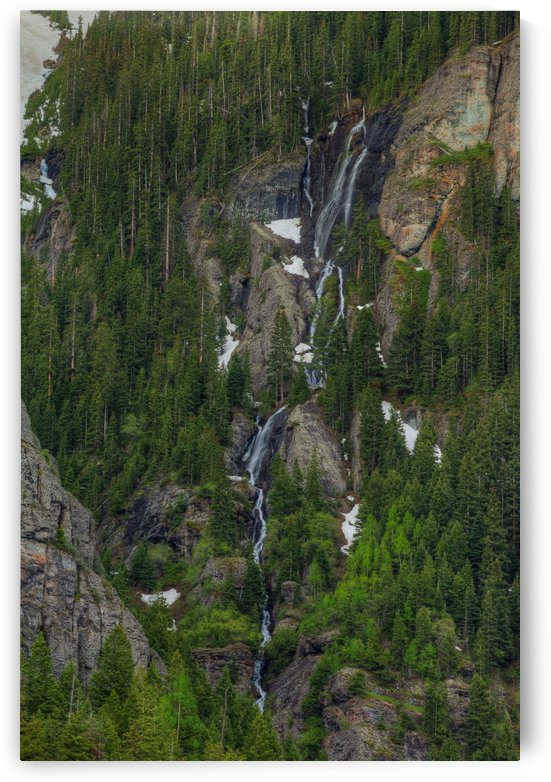 WATERFALLS AND GREEN TREES by Bill Sherrell