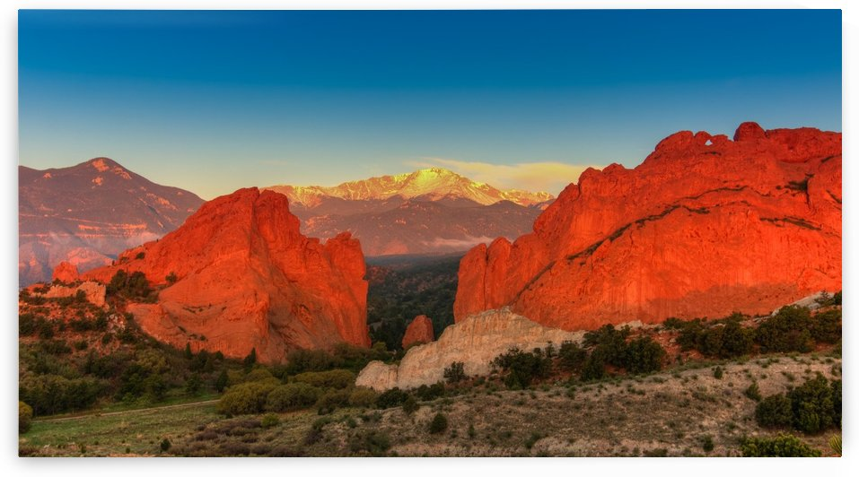 SUNRISE AT GARDEN OF THE GODS by Bill Sherrell