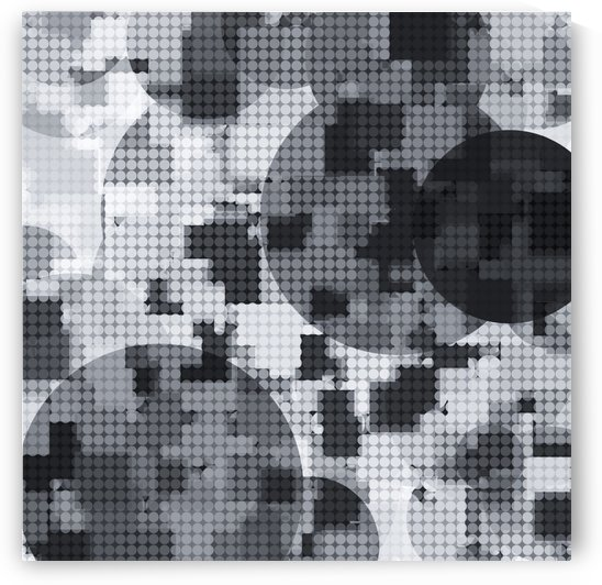 geometric circle pattern abstract in black and white by TimmyLA