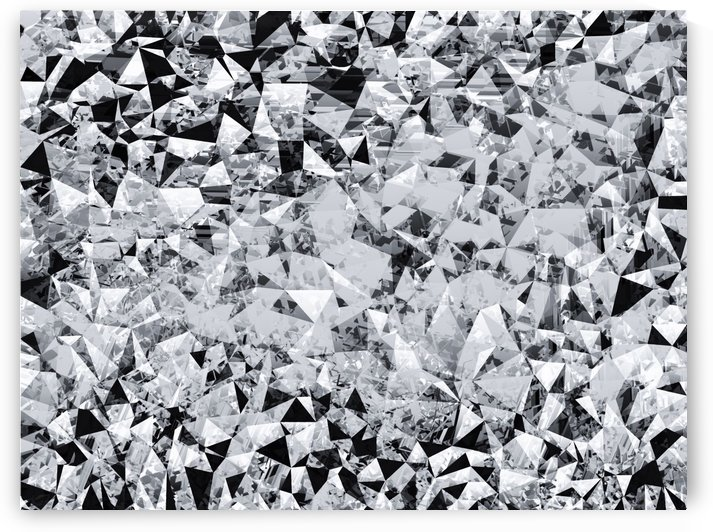 geometric triangle pattern abstract background in black and white by TimmyLA