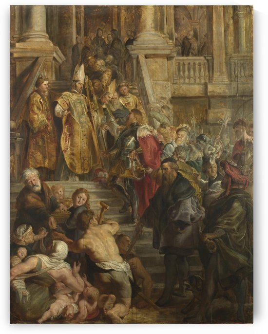 Saint Bavo is received by Saints Amand and Floribert by Peter Paul Rubens