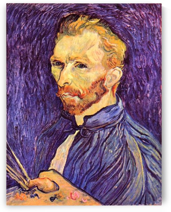 Self-Portait with pallette by Van Gogh by Van Gogh