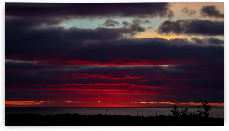 Blood red sunset by Jimmie Pedersen