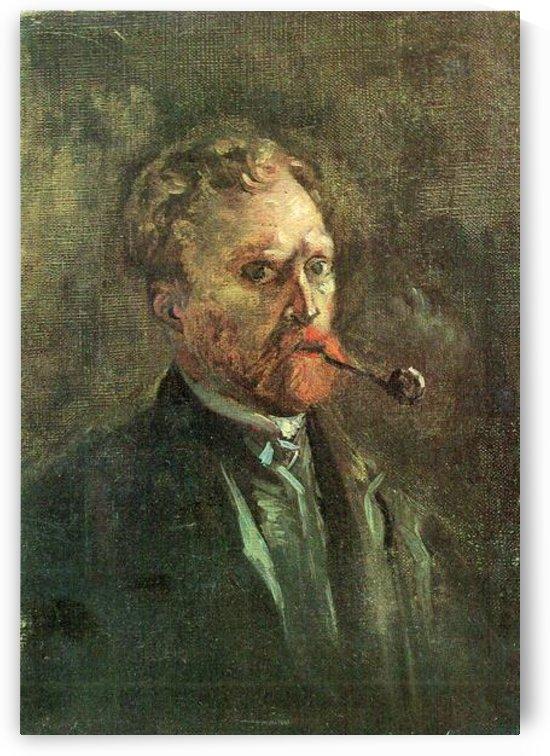 Self-Portait with pipe -1- by Van Gogh by Van Gogh
