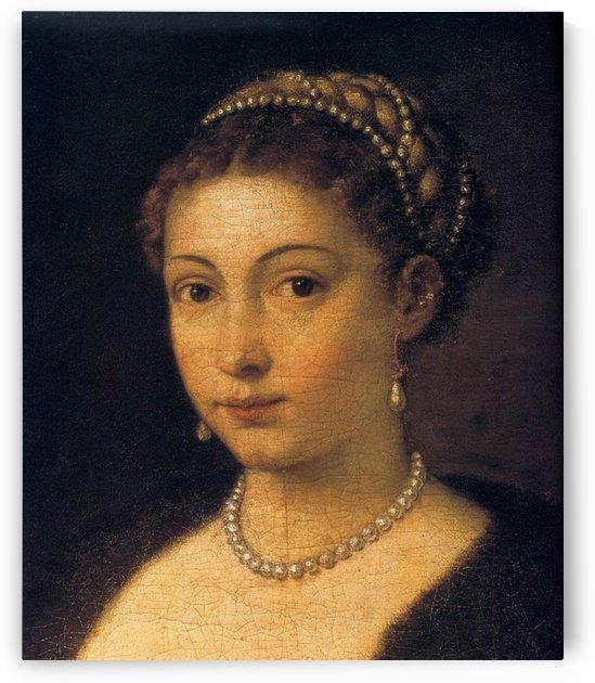 Portrait of a Lady ('La Schiavona') by Titian