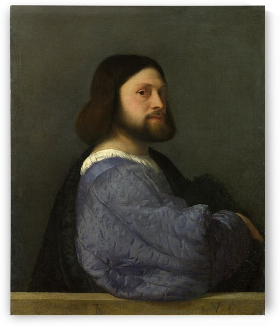 A Man with a Quilted Sleeve by Titian