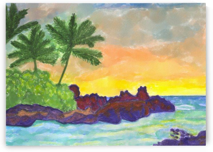 Tropical island in the ocean by Dobrotsvet Art