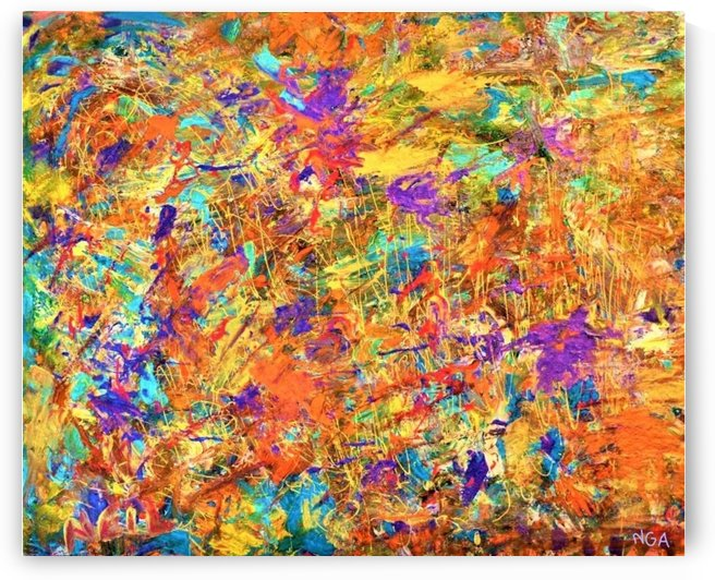 Abstract Painting 22 -   by Neil Gairn Adams by Neil Gairn Adams