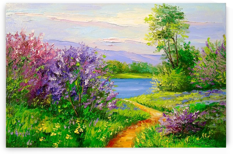 Lilac by the river by Olha Darchuk