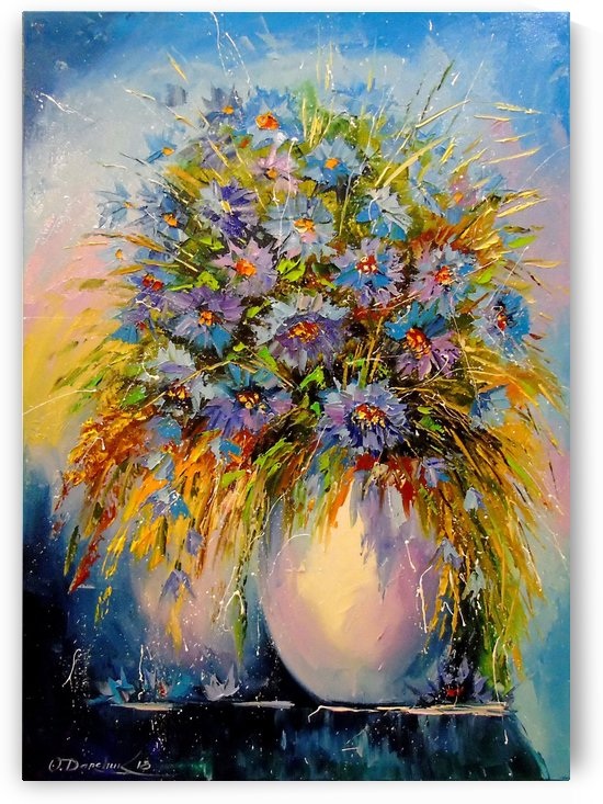 A bouquet of blue flowers by Olha Darchuk