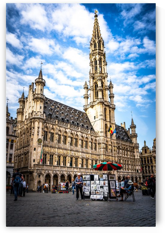 Town Hall in the Grand Place Belgium by zoltanduray