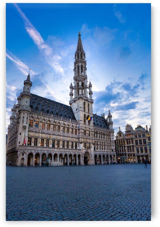 Town Hall in the Grand Place - Belgium by zoltanduray