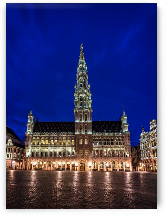 The Grand Place at night in Brussels - Belgium by zoltanduray