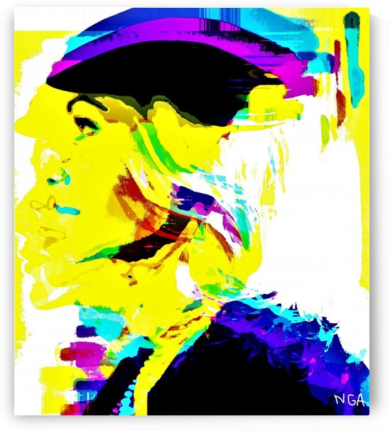 Lady with a Hat -  by Neil Gairn Adams  by Neil Gairn Adams