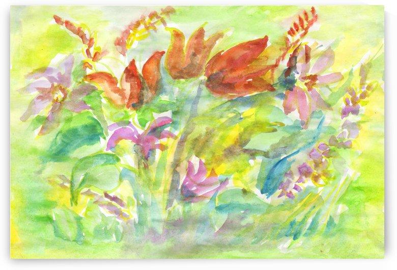 Flowers in the sunny meadow by Dobrotsvet Art