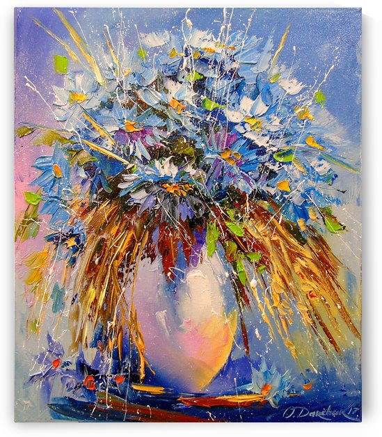 A bouquet of cornflowers by Olha Darchuk