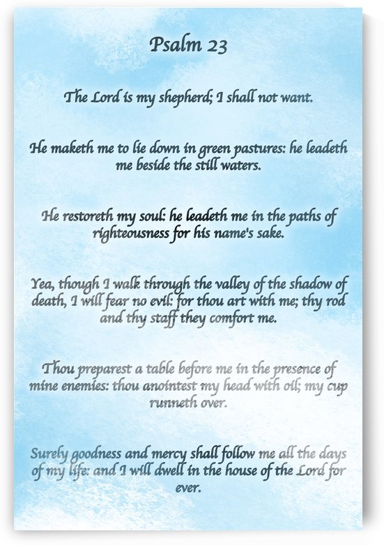 Psalm 23 Clouds by Scripture on the Walls