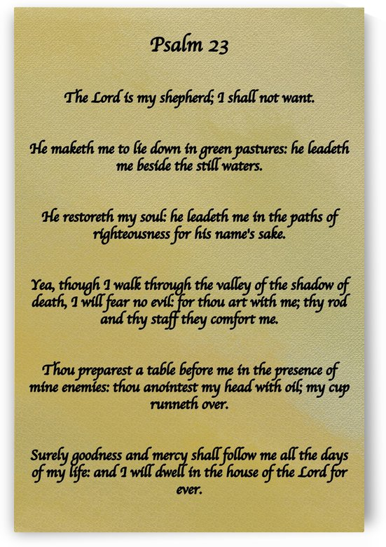 Psalm 23 P by Scripture on the Walls