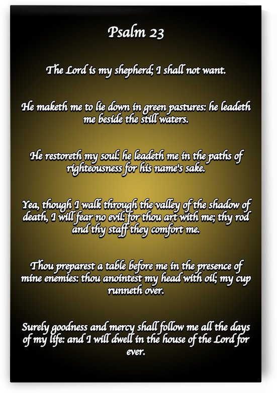 Psalm 23 BG by Espirit Images