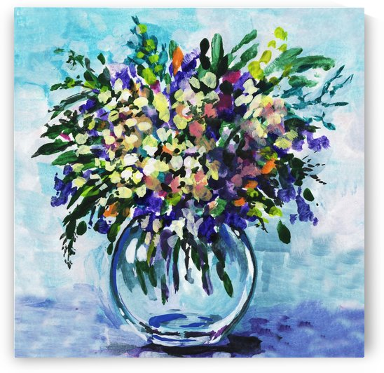 Impressionistic Flowers Burst Of Beauty by Irina Sztukowski